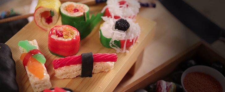 Des sushis bonbons faits maison