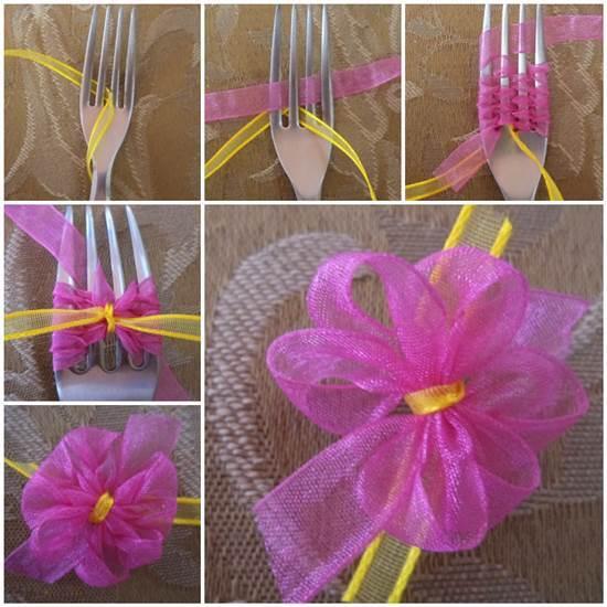 Comment faire un ruban avec une fourchette