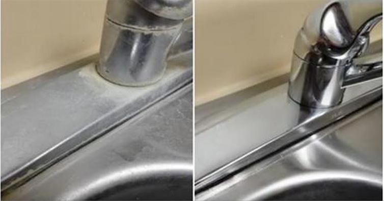 Voici la meilleure méthode d'éliminer le calcaire de vos robinet et éviers