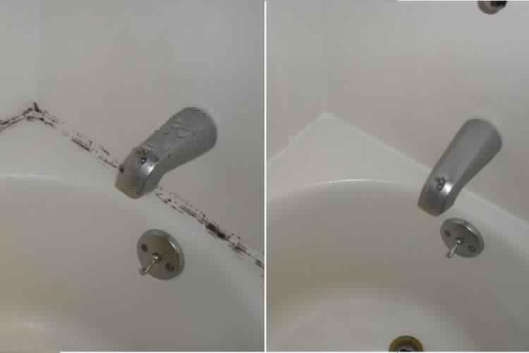 retirer les marques d 39 humidit autour de la baignoire et les lavabos sans frotter c 39 est fait. Black Bedroom Furniture Sets. Home Design Ideas