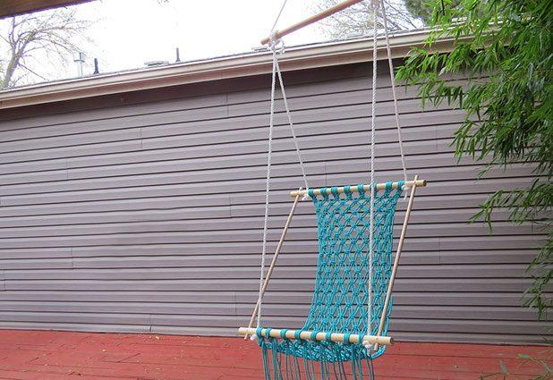 voici comment fabriquer un joli hamac pour votre v randa
