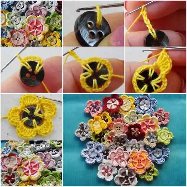 Voici comment faire des boutons fleurs en crochet