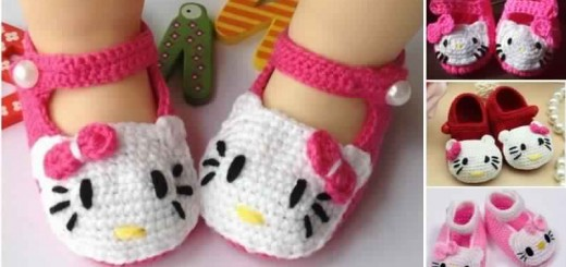 02ba658c0d134 Voici comment fabriquer de magnifiques chaussures Hello Kitty en crochet  pour votre bébé
