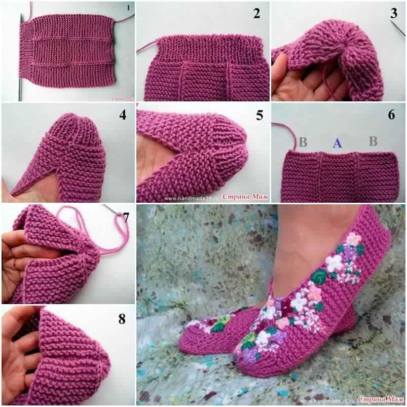 Comment tricoter des jolis pantoufles pour l'hiver