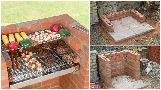 Comment construire barbecue brique design de maison for Barbecue fait maison brique