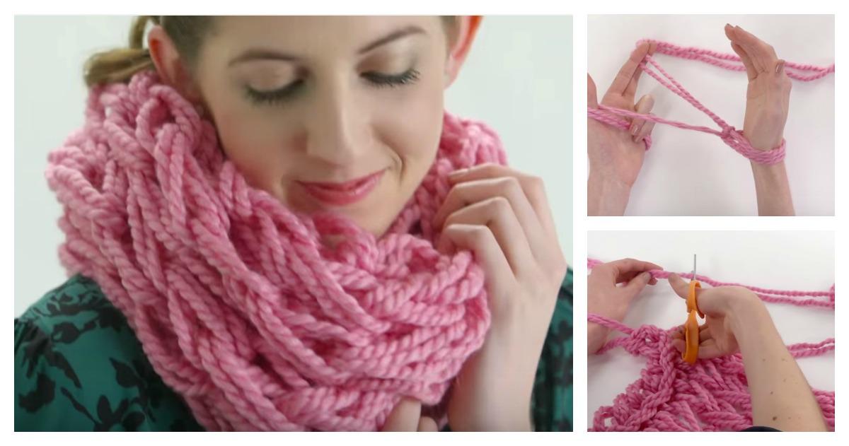 voici comment tricoter une charpe la main un excellent tuto pour les d butants c 39 est fait. Black Bedroom Furniture Sets. Home Design Ideas