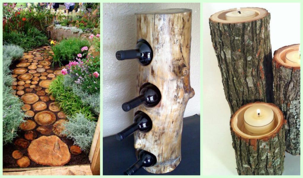 40 projets pour la maison à faire avec des buches d'arbres