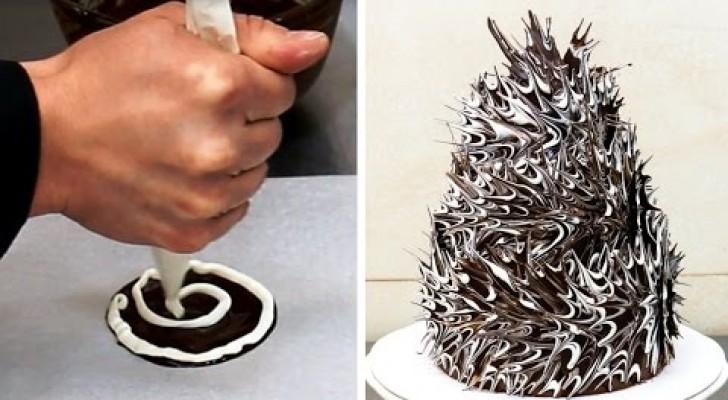 Voici comment obtenir un gâteau au chocolat original avec une procédure élémentaire