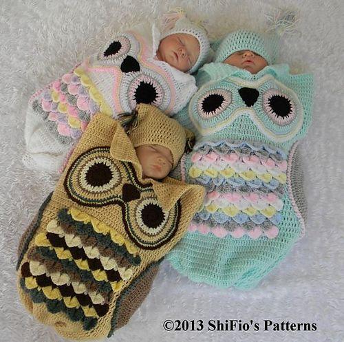 Crochet Pattern For Minion Baby Outfit : Des patrons de gigoteuse hibou ? faire au crochet - Cest ...