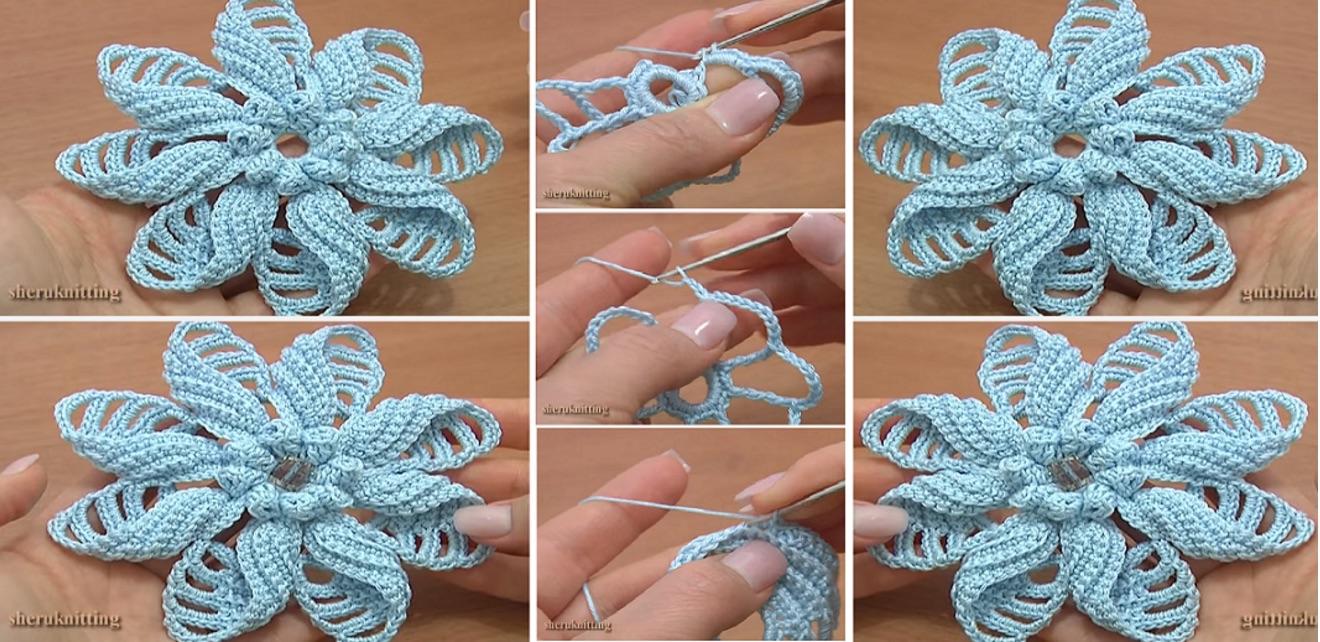 Voici Comment Faire Une Petale De Fleur En Crochet C Est Fait Maison