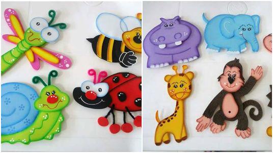 Garderies scolaires : voici 10 idées pour faire de jolies animaux en mousse