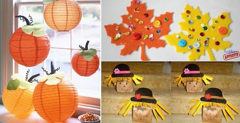 8 id es de bricolage d 39 automne faire avec les enfants. Black Bedroom Furniture Sets. Home Design Ideas