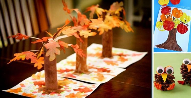 idées de bricolage d'automne à faire avec vos enfants - Cest ...
