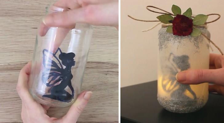 Elle crée une lanterne en quelques étapes: Lorsque elle éteint la lumière, l'effet est fascinant ...