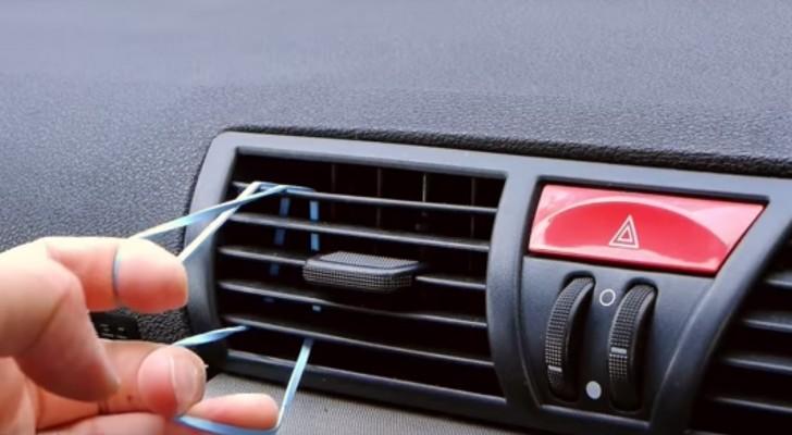 il passe un lastique sur le ventilateur de la voiture pour cr er un accessoire tr s utile c. Black Bedroom Furniture Sets. Home Design Ideas