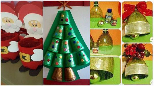 Vous allez adorer ces objets pour Noël faits avec des matériaux recyclés
