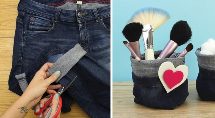 comment recycler vos vieux jeans pour cr er des poches multi usages c 39 est fait maison. Black Bedroom Furniture Sets. Home Design Ideas