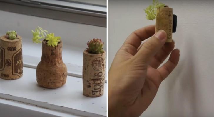 Comment transformer les bouchons de liège en de jolis pots décoratifs