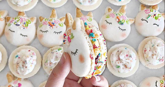 Ces macarons licornes sont certainement les plus magiques des desserts