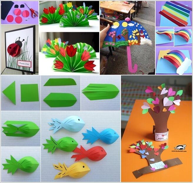 10 bricolages faciles avec du papier essayer avec les enfants c 39 est fait maison - Bricolage avec du papier ...