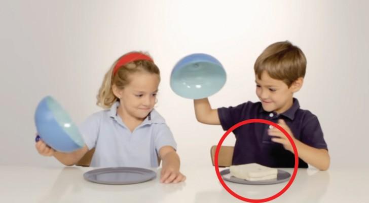 Dans cette expérience, un enfant reçoit une assiette pleine et l'autre une assiette vide : Leur réaction est une grande leçon