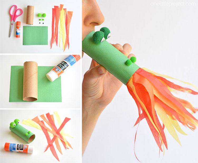 cette maman vous montre comment fabriquer des dragons qui crachent le feu en papier les enfants. Black Bedroom Furniture Sets. Home Design Ideas