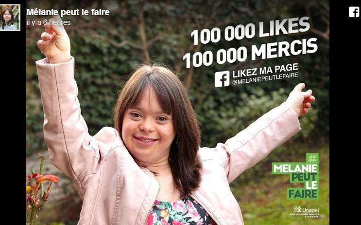 À 100 000 j'aime, Mélanie, trisomique, pourra réaliser son rêve en présentant la météo