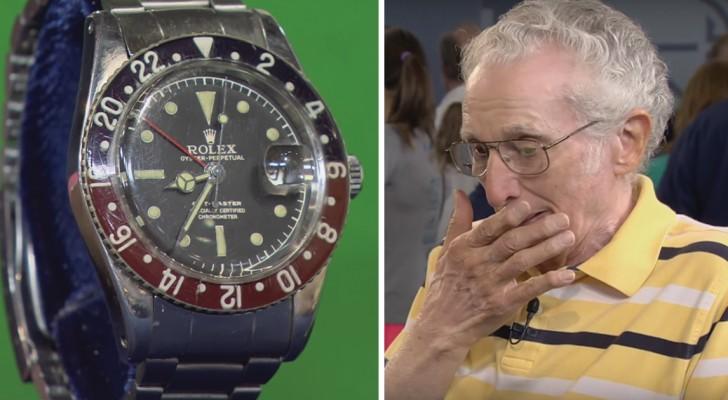 Il apporte sa vielle Rolex à un expert: Quand il découvre sa valeur, il n'en croit pas ses oreilles