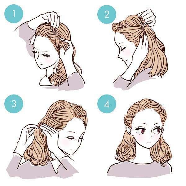 10 excellentes coiffures  en moins de 3 minutes que chaque fille devrait essayer!