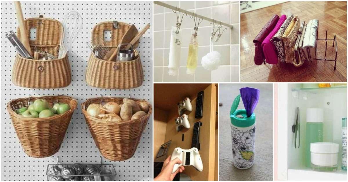 17 astuces de rangement que vous devez absolument essayer for Astuces de rangement maison
