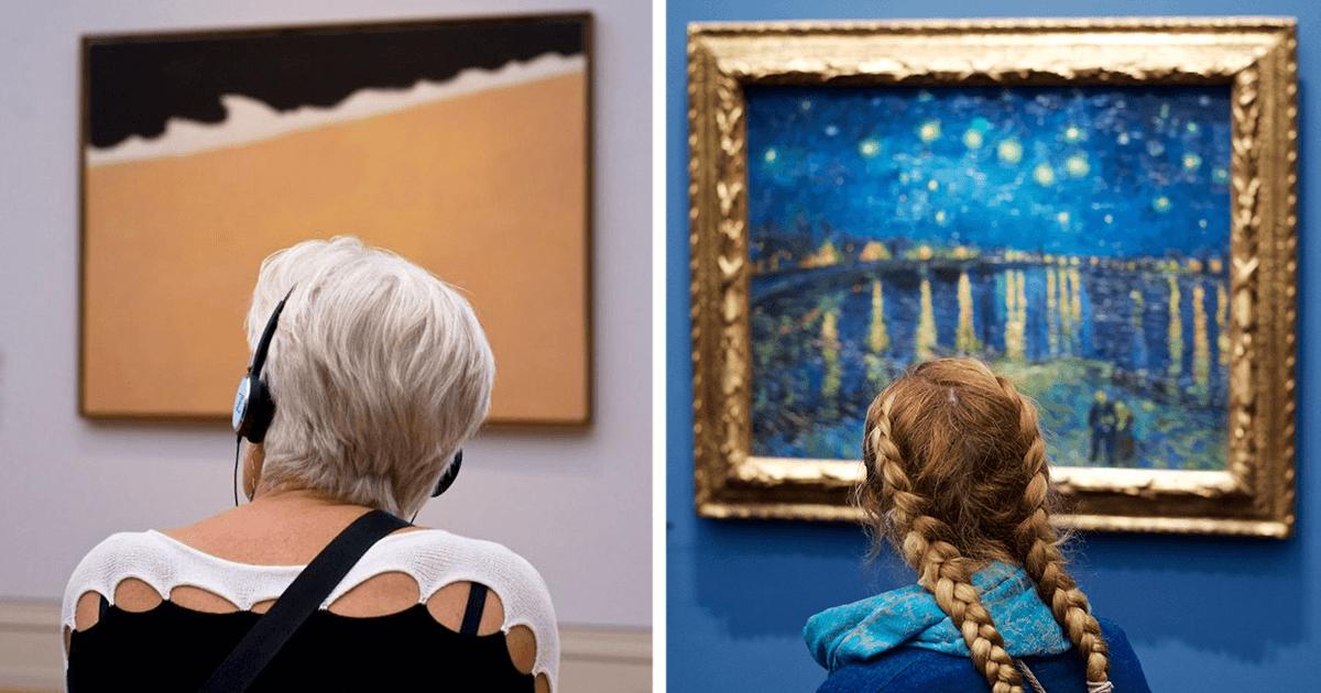 Ce photographe passe une éternité à attendre que les visiteurs d'un musée soient assortis aux œuvres et le résultat est simplement génial!