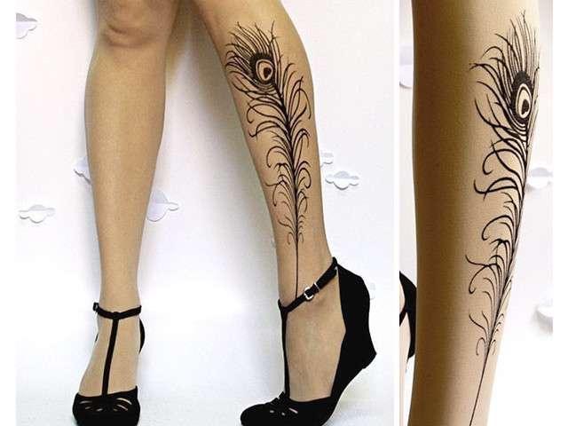 29 collants originaux avec effet tatouage c 39 est fait maison. Black Bedroom Furniture Sets. Home Design Ideas