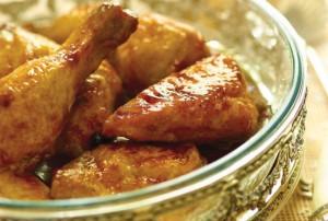 poulet mariné au miel