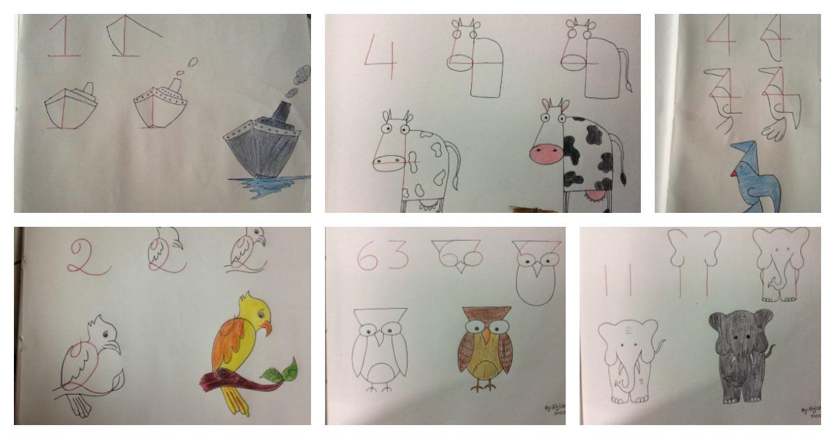 20 excellentes id es pour apprendre votre enfant dessiner avec des chiffres c 39 est fait maison. Black Bedroom Furniture Sets. Home Design Ideas