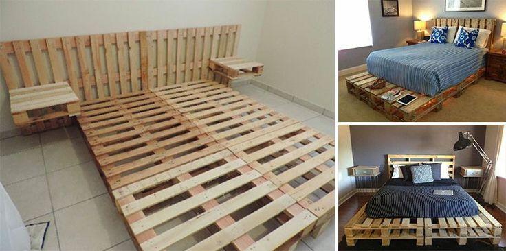 20 id es originales pour fabriquer votre lit avec des. Black Bedroom Furniture Sets. Home Design Ideas