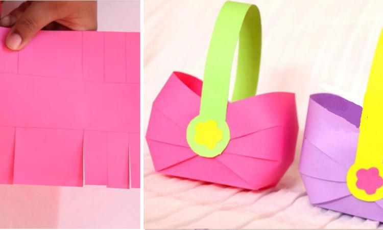 elle coupe des lani res dans du papier color pour. Black Bedroom Furniture Sets. Home Design Ideas