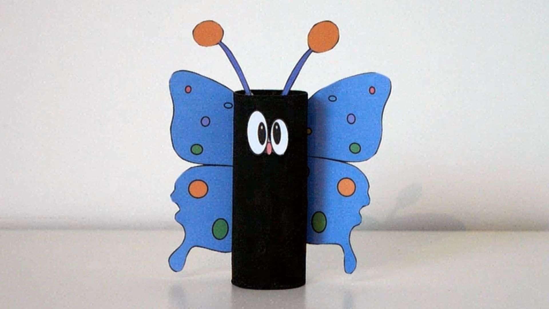 Comment fabriquer un joli papillon avec un rouleau de papier toilette - C'est fait maison